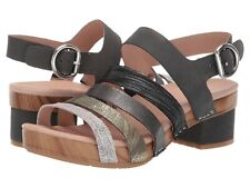 Dansko Maribeth Slingback Multi Metallic Leather Block Heel Sandal NEW Size 41
