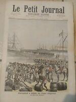 Le PETIT JOURNAL n° 78 de 1892 Débarquement des troupes sénégalaises à Kotonou