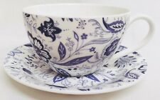 Blue Persia Breakfast 15 oz Cup /& Saucer Fine Bone China Classic Oriental Blue /& White Flowers Floral Large Cup Saucer Hand Decorated in UK