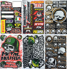 Metal Mulisha Motocross Decal Sticker Kit Set 6 Sheets MS-601