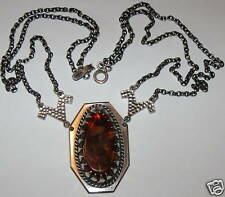 BEAUTIFUL AMBER STERLING SILVER LATVIA LATVIJA NECKLACE