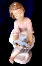 Lladro #7620 Best Friend Bnib Little Girl Teddy Bear Rare $200 Off Free Shipping