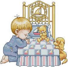 Free shipping needlework 14 counted aida baby angel cross stitch kids kit KP025