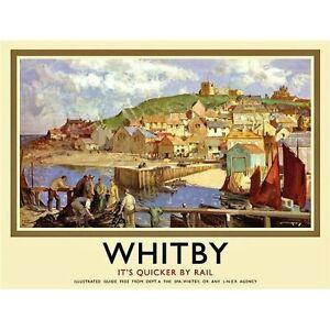Whitby (Antigua Vía Anuncio Letrero de Acero Grande 400mm x 300mm (Og)