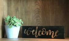 WELCOME Handmade Wood Sign Front door Country Home Decor Porch Farmhouse