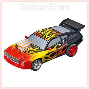 "Carrera GO 64159 Muscle Car ""Flames"" mit Licht 1:43 Auto Slotcar auch GO Plus"