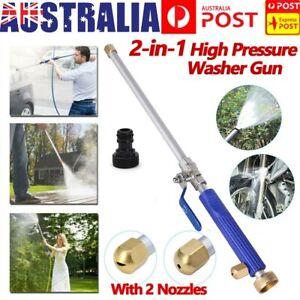Hydro Jet High Pressure Power Washer Water Spray Gun Garden Nozzle Wand Cleaner