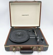 Crosley Electronics Executive Portable USB Turntable Record Player Faux Leather
