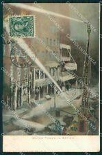 Vigili del Fuoco Firefighter New York cartolina QT5312