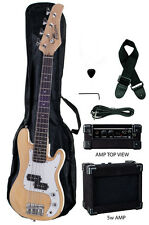 "Raptor 38"" Kid's 3/4 Size Junior Kid's 4 String Electric P Bass Pack - NATURAL"