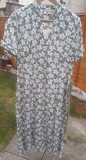 Eastex Smart Summer Dress size 12 (Eu 38) Green White flowers