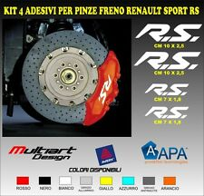 KIT 4 ADESIVI  sticker PER PINZE FRENO  RENAULT SPORT RS, CLIO , MEGANE  TROPHY