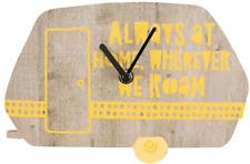 Always at Home Wherever We Roam Caravan Wall Clock 22.5cm X 14.5cm