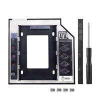 Universal 9.5/12.7mm Caddy SATA 2nd HDD SATA Hard Drive adapter Optical Bay I7S0
