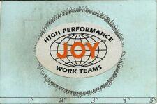 "Joy Coal Mining Equipment Co -Hard Hat-Coal Mining Sticker-Decal ""Old"""