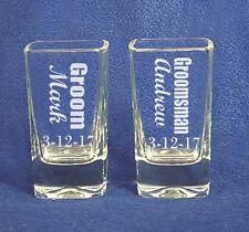 Groomsman Wedding Shot Glasses  personalized engraved
