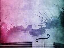 Sezione di stringa PITTURA MUSICA VIOLINO VIOLONCELLO Vernice Splash art print poster mp3680b