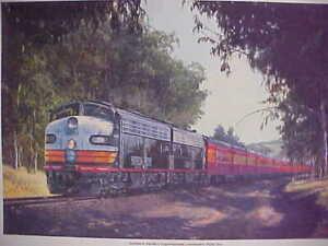 """Railroad Art,Winfield,SP Experimental Paint Era"""",s/n18X24"""", (7323)"""