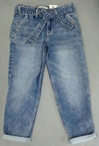 NEW Abercrombie Kids Girl's High-Rise Mini Mom Jeans Size 7/8 FREE SHIPPING