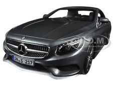 2015 MERCEDES S CLASS CONVERTIBLE GREY METALLIC 1/18 DIECAST BY NOREV 183484
