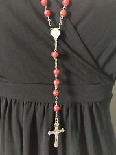 Red rosary beads NEW, Blessed in Fatima,