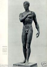 Perseus Kunstdruck 1944 Herbert Volwahsen Skorischau Murnau Akt GDK Muskeln Gay