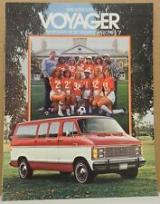 1979 79 PLYMOUTH VOYAGER VAN DEALERSHIP PROMO MOPAR DEALER BROCHURE SHOWROOM
