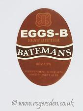 Batemans Brewery Real Ale Pump Clip  EGGS-B