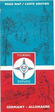 1970 - Carte routière ALLEMAGNE - FINA - 1 / 1.000.000 - Pliée en 14
