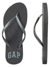 BNEW GAP Logo Womens  Sandals / Slippers / Flip flop - Size 6 Gunmetal