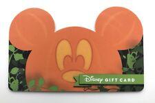 WALT DISNEY WORLD PUMPKIN HALLOWEEN MICKEY EARS SHAPED GIFT CARD, Disneyland