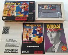 Mario's Early Years: Preschool Fun Super Nintendo SNES CIB 100% complete NM