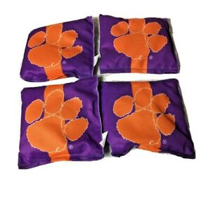 Clemson Tigers • Cornhole Bean Bags•All-Weather•Duck Cloth•Tailgate• New