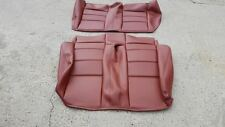 BMW E30 325i 318i REAR SEAT KIT CONVT UPHOLSTERY KIT CARDINAL RED  BEAUTIFUL OEM