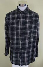 Forever 21 Men's Long Sleeve Plaid Button Down Shirt Side Zipper Size Large L