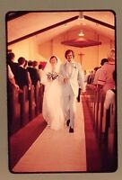 1970s Wedding 35 mm slides Amateur powder blue tuxedo Lot 10 Bride Groom Altar