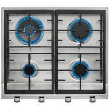 Vitroceramica encimera de gas TEKA EX60.1 acero inoxidable 1000w vitro 4 fuegos