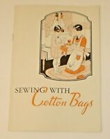 Vintage 1930's Sewing With Cotton Bags Booklet - The Beauty Pattern Co. Nice!  B