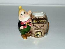 "Nm!Disney1960's&#034 ;Happy'S Storage Barrel""Pencil Sharpener-Ceramic Pencil Sharpener"