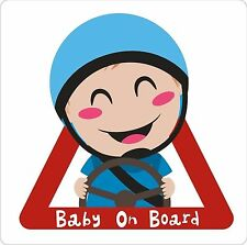 BABY On Board BOY Exterior Paraurti Finestra Adesivo Decalcomania Vinile Grafico etichetta