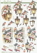 Feuille 3D à découper A4 - 8215.743 Decor Noël Lanterne - Decoupage Lantern