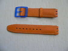 Swatch Watch Leather band 17 mm Orange  for Scuba Standard, musical and Chrono