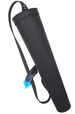 New Fine Black Synthetic Leather Back side Quiver Archery Products BFSAQ-8316