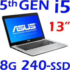 "NEW ASUS Ultrabook CORE i5-5200U 13"" 8GB 240GB SSD Win8.1 + Windows 10 F/X302LA"