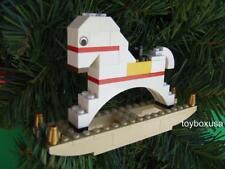 * Custom * Lego Christmas Holiday Tree Ornament Built w/ NEW Bricks Parts