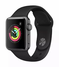 New Apple Watch Series 3 GPS Space Grey Aluminum Black Sport Band 38mm Sealed