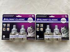 New listing New 2 Feliway Classic 2 pk multi cat calming comfort Ceva diffuser refills 48ml