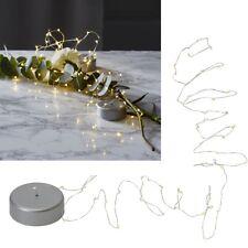 LED Draht-Lichterkette Con Puck Temporizador Lichterkette 20/40 Micro Leds Pila