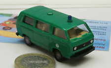 Roco Minitanks  716: VW T3  Bus, Bundesgrenzschutz,  minzgrün