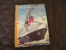 Vintage- THE WONDER BOOK OF SHIPS; 20th EDITION; -8 Color Plates+250 ill